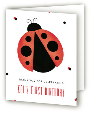 Little Bug Children's Birthday Party Thank You Cards