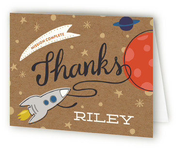 Mission To Mars Children's Birthday Party Thank You Cards