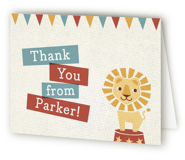 Paper Circus Children's Birthday Party Thank You Cards