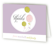 Balloons Bows Childrens Birthday Party Thank You Cards