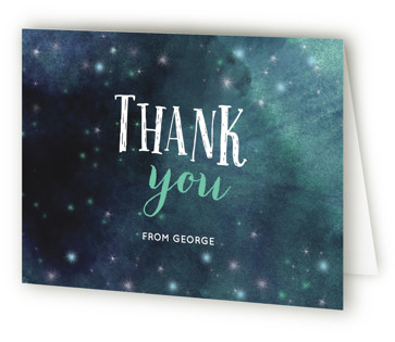 Catch the Stars Children's Birthday Party Thank You Cards