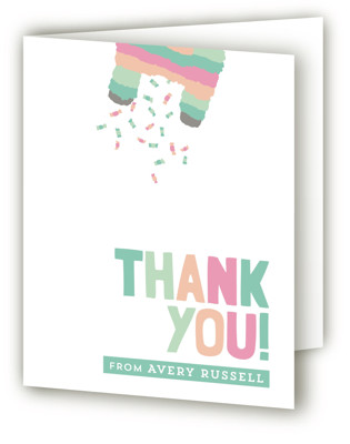 Pinata Children's Birthday Party Thank You Cards