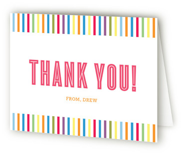 Fun with Color Children's Birthday Party Thank You Cards