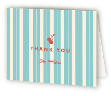 Soda Shop Party Children's Birthday Party Thank You Cards