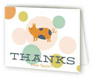 Farm Friends Children's Birthday Party Thank You Cards