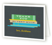 Bookworm Owl Childrens Birthday Party Thank You Cards