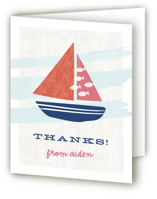 Regatta Race Children's Birthday Party Thank You Cards