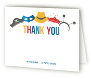 Costume Party Childrens Birthday Party Thank You Cards
