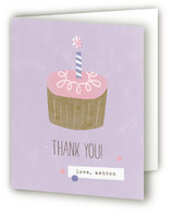 Simple Cupcake Childrens Birthday Party Thank You Cards