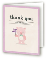 Piglet Party Childrens Birthday Party Thank You Cards