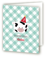 Barnyard Crew Childrens Birthday Party Thank You Cards