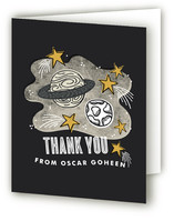 Blast Off to Space Childrens Birthday Party Thank You Cards