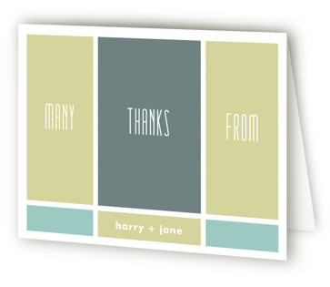 Modern Blocks Children's Birthday Party Thank You Cards