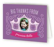 Crown Swirls Children's Birthday Party Thank You Cards