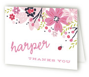 Garden Fete Childrens Birthday Party Thank You Cards