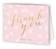 Glitter Girl Childrens Birthday Party Thank You Cards