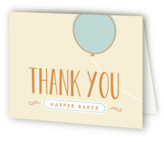 Mod Balloon Childrens Birthday Party Thank You Cards