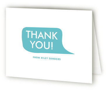Mod Shout Out Children's Birthday Party Thank You Cards