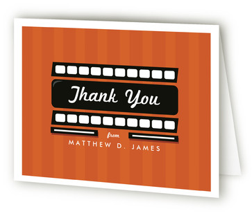 Drive in Movie Night Children's Birthday Party Thank You Cards