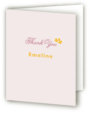 Royal Ball Children's Birthday Party Thank You Cards