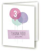 Three Balloons Childrens Birthday Party Thank You Cards