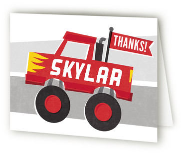 Mighty Monster Truck Children's Birthday Party Thank You Cards