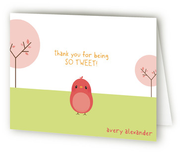 Happy Birdie to you Children's Birthday Party Thank You Cards
