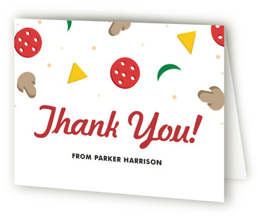 Pizzeria Children's Birthday Party Thank You Cards