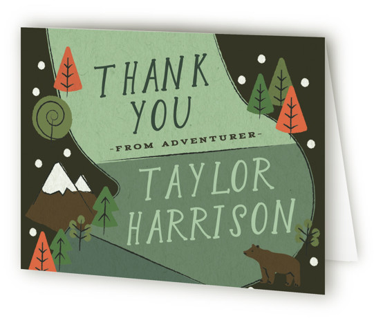 Skip Go Children's Birthday Party Thank You Cards