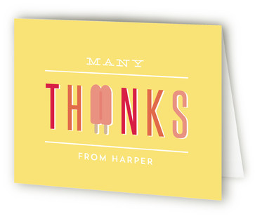 Popsicle Party Children's Birthday Party Thank You Cards