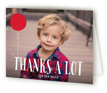 A Balloon Children's Birthday Party Thank You Cards