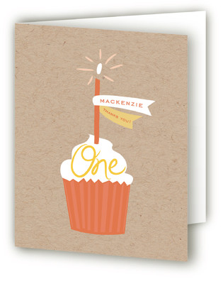 A Banner Cupcake Children's Birthday Party Thank You Cards