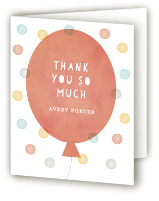 Big Balloons Children's Birthday Party Thank You Cards