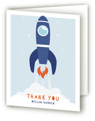 Blast Off Children's Birthday Party Thank You Cards