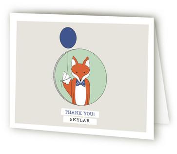 Birthday Fox Children's Birthday Party Thank You Cards