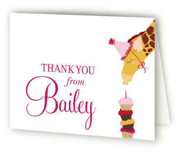 Make A Wish Children's Birthday Party Thank You Cards