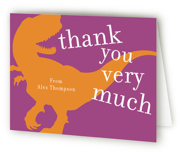 T-rex party Children's Birthday Party Thank You Cards