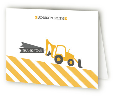 Hard Hats And Bacos Children's Birthday Party Thank You Cards