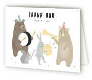 bears marching band Childrens Birthday Party Thank You Cards