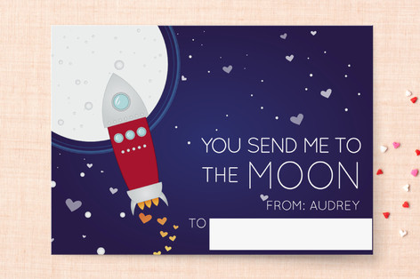To the Moon Classroom Valentine's Cards