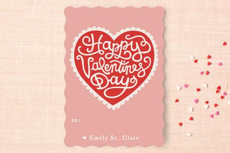 Handmade Heart Classroom Valentine's Cards