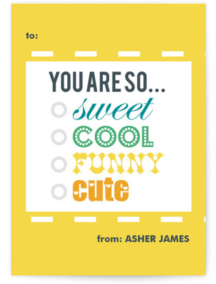 You are so.... Classroom Valentine's Day Cards