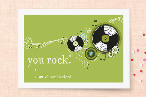 Rock n Roll Classroom Valentine's Cards