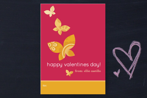 Monarch Flutter Classroom Valentine's Cards