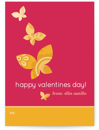 Monarch Flutter Classroom Valentine's Day Cards