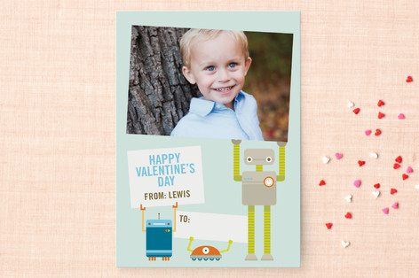 Robot Friends Classroom Valentine's Cards