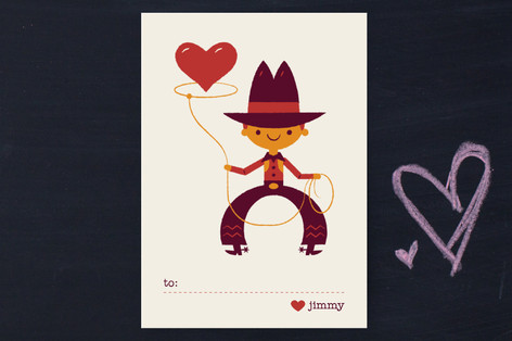 Be Mine Cowboy Classroom Valentine's Cards