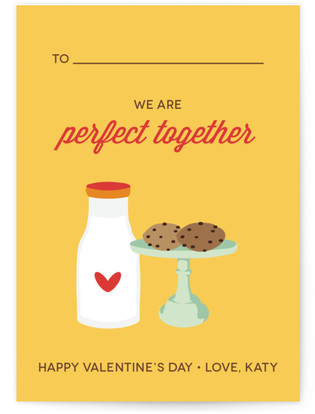 Milk & Cookies Classroom Valentine's Day Cards