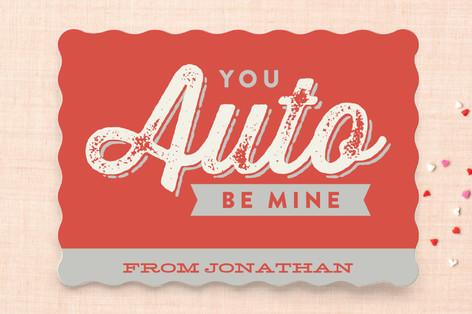 Auto Be Mine Classroom Valentine's Cards