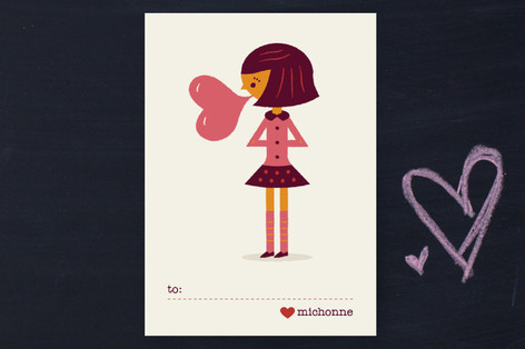 Be Mine Bubblegum Classroom Valentine's Cards